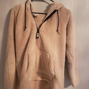 Cream colored sherpa Victoria secret pink pullover